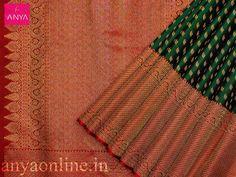 Anya Boutique - Wedding Designer Sarees Bridal Silk Saree and Blouses Online Shopping in Coimbatore-Coimbatore-Clothing - Garments South Indian Wedding Saree, Indian Bridal Sarees, Wedding Silk Saree, Indian Silk Sarees, Soft Silk Sarees, Pattu Saree Blouse Designs, Half Saree Designs, Saree Blouse Patterns, Kanjivaram Sarees Silk