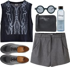 """grey mood"" by rosiee22 ❤ liked on Polyvore"