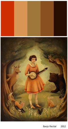 Banjo Recital by theblackapple (Emily Winfield-Martin). This is my favorite black apple prints. Art And Illustration, Illustrations, Amazing Paintings, Amazing Art, Original Paintings, Black Apple, Recital, Musical, Les Oeuvres