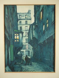 Paris France street scene cityscape aquatint etchings (2). European city art. Vintage mid century French artwork. Signed and Framed. From VintageArtCafe. See it on ETSY ---> https://www.etsy.com/listing/260448430/paris-cityscape-vintage-art-signed?ref=shop_home_active_4