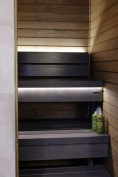 Sauna Lights, Helsinki, Sauna Design, Summer Cabins, Spa Rooms, Saunas, Spa Massage, Basement Renovations, Pool Designs