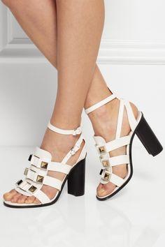 Proenza Schouler|Embellished leather sandals|NET-A-PORTER.COM
