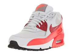 Nike Womens Air Max 90 Essential Pure PlatinumGym RdTtl Crmsn Running Shoe 9 Women US >>> You can find more details by visiting the image link.