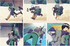 You know you're Best Friends, when you let your deranged friend give you a piggy back ride back home until you die... Lmao poor kakashi this episode was funny lol