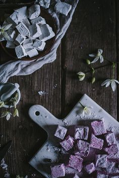 Lavender Black Currant and Vanilla Bean Rose marshmallows--Adventures Cooking