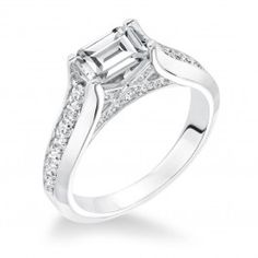 Emerald Cut engagement ring from Wedding Day Diamonds