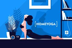Yoga Girls 433190057909031251 - Young beautiful flexible girl doing yoga at home vector illustration. Woman laying in pose and breathing. Healthy lifestyle and home yoga concept in modern interior Vector files, fully editable. Yoga Girls, Bikram Yoga, Ashtanga Yoga, Yoga Illustration, Digital Illustration, Flexible Girls, House Vector, Character Home, Character Design