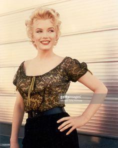 Actress Marilyn Monroe in a scene from 'Bus Stop' in (Photo by Michael Ochs Archives/Getty Images) Marlene Dietrich, Brigitte Bardot, Marilyn Monroe Birthday, Marilyn Monroe Makeup, Greta, See Through Dress, Norma Jeane, Celebrity Dresses, Vintage Photos