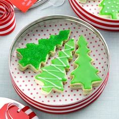 Evergreen Sandwich Cookies Recipe from Taste of Home  #Christmas_Cookies