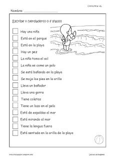 Spanish 1, Spanish Class, Learning Spanish, Speech Language Therapy, Speech And Language, Dual Language Classroom, Spanish Worksheets, Therapy Activities, Reading Comprehension