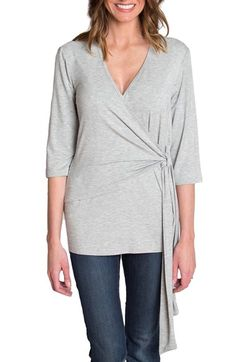 Free shipping and returns on Udderly Hot Mama 'Whimsical' Nursing Wrap Top at Nordstrom.com. A casual yet sophisticated wrap top makes for a comfy post-maternity style, featuring a surplice neckline with a lift-up panel that provides convenient nursing access.