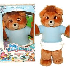 Baby Teddy Ruxpin w Box Papers 1987 by PremierAntiquesNY on Etsy