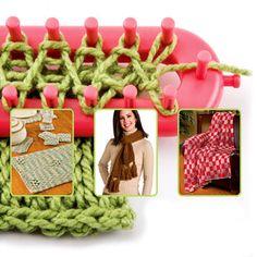 Aliexpress.com: Comprar 4 tamaño calidad DIY mantón de la bufanda sombrero calcetines Knitter Knifty largo Knitting Loom envío gratis de chal de cachemira fiable proveedores en Honesty Team