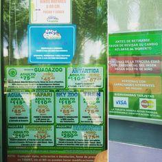 Letreros en la entrada del zoológico: puedes adivinar qué paquete escogimos? #SXTNletrero by Sra. Sexton (Mexico June 2016)