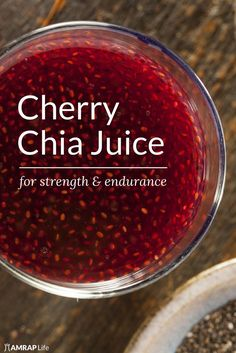 Chia drinks have been used for centuries as a source of endurance nutrition. Adding yummy cherry juice and beet powder makes it even better.
