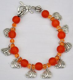 Charm Bracelet Autumn/Fall/Halloween by Jewelrymadeforaangel, $15.99