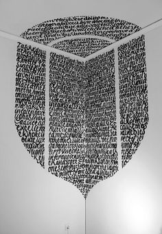 Installation by typographical street artist Greg Papagrigoriou.