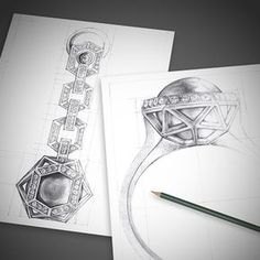 Jewelry Illustration by Candido Sola, via Behance