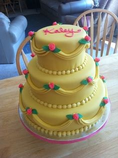 Beauty and the Beast Cake... I WILL have this at my child's birthday party