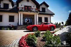 Butterfly Wedding,Red Ferrari,Bride and Groom  transport/Motylkowe wesele,Samochód dla Pary Młodej,Anioły Przyjęć