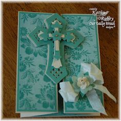 Love the fold on this card! See next pin for inside of card.