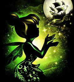 Disney Princess Art, Disney Fan Art, Disney Love, Emo Disney, Tinkerbell And Friends, Disney Fairies, Dark Disney, Disney Magic, Kawaii Disney