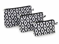 New Prints in! 3 Piece Cosmetic Bag Set ~ Great for Golf and Travel! $20.00