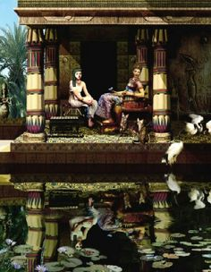 Lounging by the lily pond Life In Ancient Egypt, Queen Nefertiti, Nile River, Lily Pond, One Kings, Ancient Civilizations, Egyptian, Mystic, Medieval