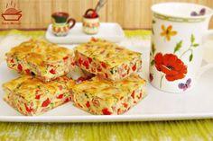 Budinca-aperitiv-cu-sunca-si-ardei-8 Romanian Food, Salmon Burgers, Quiche, Ham, Food To Make, Cake Recipes, Appetizers, Food And Drink, Cooking Recipes