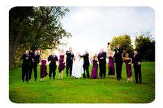 Eggplant bridal party