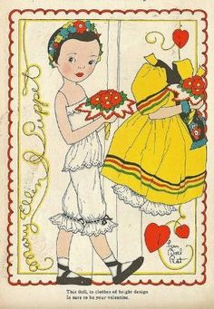 Vintage Paper Doll by dolores martinez