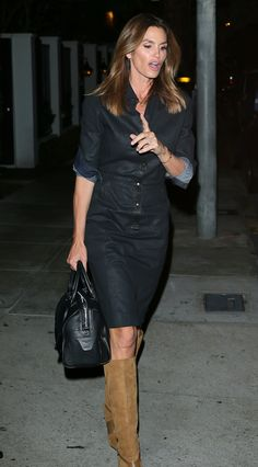 Cindy Crawford at Craig's Restaurant in West Hollywood 3/3/16