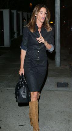 Cindy Crawford at Craig's Restaurant in West Hollywood 3/3/16