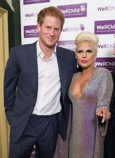 Pin for Later: Prince Harry and Lady Gaga Rub Elbows in London