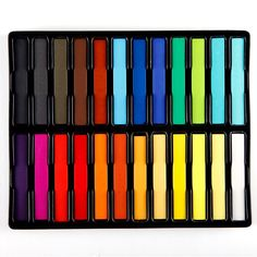hair chalk kit de 24 couleurs - Craie Coloration Cheveux