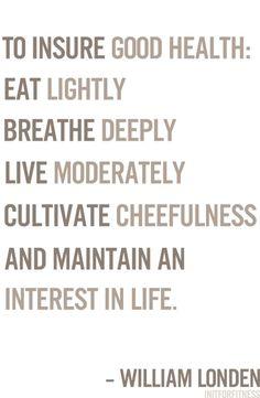 Yep. Besides the eating lightly part...
