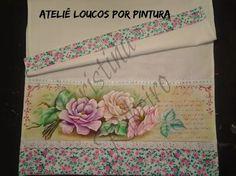Loucos por pintura - Aulas de pintura em tela e tecido: Pintando rosas com poema em stencil - Pintura em tecido