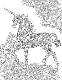Coloriage Mandala Licorne Difficile Conventiongymvolontaire