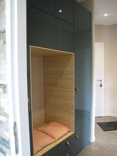 Furniture from IKEA kitchen. I will detail a little the composition of the . Entry Furniture, Home Furniture, Armoire Entree, Garderobe Design, Free Standing Cabinets, Condo Living, Bench With Storage, Ikea Home, Home Staging