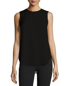 Melana Modern Georgette Sleeveless Top