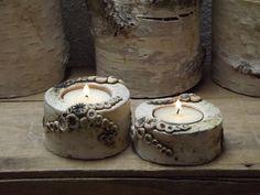 Gartendekoration - 2er Set Elfen Licht Keramik Unikat Teelichthalter - ein Designerstück von elfenfluestern bei DaWanda