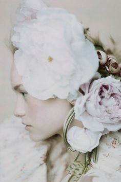 John Galliano in Vogue shoots and covers (Vogue.com UK) - Gemma Ward wears John Galliano - with flowers in her hair