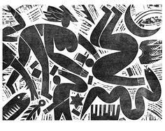 CHAOS A woodcut by Bernard Lodge
