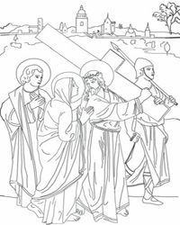 stations of the cross coloring pages catholic