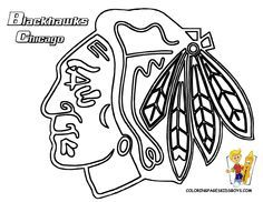 Chicago Blackhawks coloring pages | ☝Blackhawks☝ | Pinterest ...
