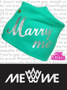 Find your way to wear your Marry Me Beanie! It´s * Hand Printed * Organic Cotton * Made in Finland * Gotta love it w/ #KristaSiegfrids #MarryMe #TeamDingDong #Tahdon2013 #love #EurovisionSongContest