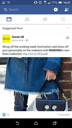 Grazia and pandora ad facebook. Not relevant, dont read this magazine or even like it