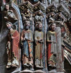 Apóstoles del Pórtico del Paraíso - Catedral de Orense #románico #escultura #porticodelparaiso #orense #ourense #galicia #catedraldeorense
