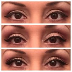 Eye pigments in Glorious, Sexy and Sassy. Precision liner in Perfect, and Younique 3d Fiber Lash masccara.
