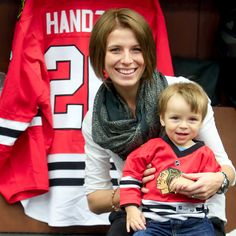 Zuzana Handzus, wife of Michal Handzus, says their 19-month-old son, Tomas, recently skated for the first time. Spoiler alert: Tomas loved it!